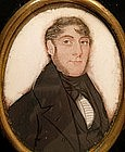 English Portrait Miniature of Young Gent circa 1840