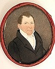 English Portrait Miniature of Gentleman, circa 1820