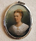 Portrait Miniature of Lady, Paste & Hair