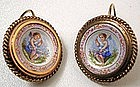 Battersea Enamel Earrings, Cherubs Conducting Music
