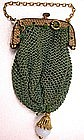 Miniature 19th C Silk Netted Purse
