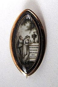 """Georgian Mourning Brooch, """"Affection Weeps"""""""