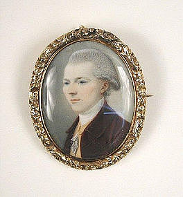 Portrait Miniature on Ivory by Thomas Day