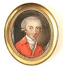 Portrait Miniature on Ivory, ca 1785