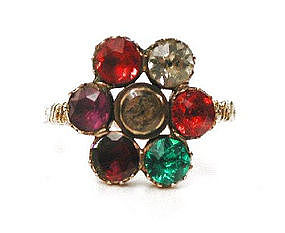 Super Paste REGARD Ring, circa 1820