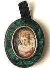 18th C Portrait on Ivory � Charming Cherub!