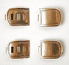 Set of Four (4) 19th C Stock Clips - 14K Gold