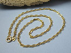 Estate 14K gold chain necklace Balestra Italy