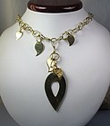 Modernist  European  14k gold necklace