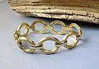 Modernist Italian 14k gold circle bracelet