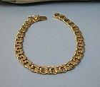 Estate vintage Hungarian 18K gold link  bracelet
