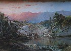 Antique oil painting by William Louis Sonntag 1822-1900
