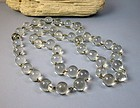 Long Antique Pools of Light crystal ball necklace