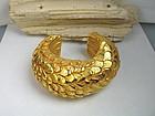 Haute Couture Dominique Aurientis gold cuff bracelet