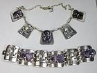 Rare Mexican Carmen Beckmann silver necklace bracelet