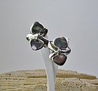 Angela Cummings sterling silver orchid earrings