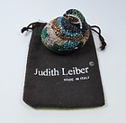 Judith Leiber Signed Swarovski Crystal Duck Pillbox