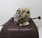 Judith Leiber Swarovski crystal dog trinket pill box