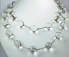 Deco rock crystal pools of light opera length necklace