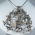 Rare Modernist Rachel Gera  Sterling Silver Pendant