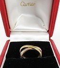 Cartier 18k Gold Trinity Rolling Band Ring original box