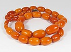 Antique genuine butterscotch amber bead necklace