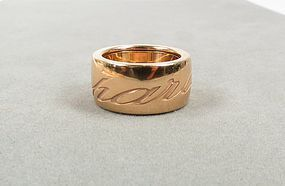 Chopard 18k rose gold Chopardissimo band ring