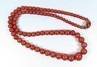 14k Gold Genuine Red Mediterranean Coral Bead Necklace
