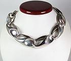 Huge Charles Krypell Sterling Silver Necklace