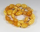 Butterscotch Baltic Amber Bead Necklace 80.6 Grams