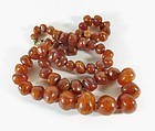 Genuine antique butterscotch amber bead necklace