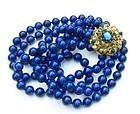 Huge 18k gold lapis lazuli peridot turquoise necklace