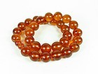 Large Genuine Baltic Amber Bead necklace 92 grams