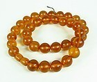 Vintage natural honey Baltic Amber bead necklace