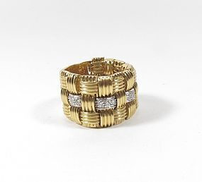 Roberto Coin 18k gold diamond Appassionata ring