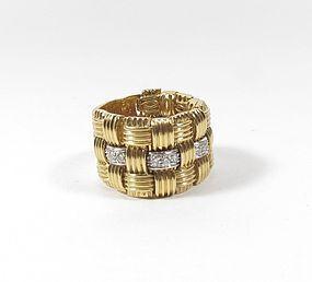 Roberto Coin 18k gold diamond Appassionata ring