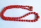 Vintage Italian natural tomato red coral bead necklace