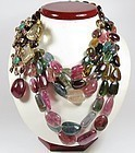 Massive, runway, Iradj Moini, Tourmaline gemstone necklace brooch