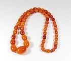 Antique, natural, Baltic butterscotch amber bead necklace 36.8 grams