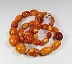Antique natural Baltic butterscotch amber bead necklace 39.3 grams