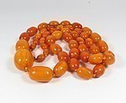 Antique Baltic butterscotch amber bead necklace 75.5 grams