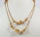 "Estate, 18k yellow gold,  32"" long chain necklace"