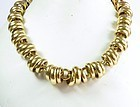 Rare, vintage, Pomellato Italy 18k yellow gold necklace