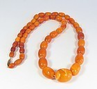 Antique, natural Baltic butterscotch amber bead necklace 38.6 grams