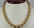 Estate, heavy, 20k/18k yellow gold bead necklace