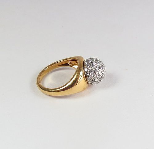 Authentic Paloma Picasso for Tiffany & Co. 18k gold diamond ring