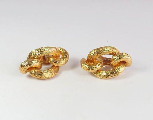 Estate Van Cleef & Arpels 18k gold knot earrings