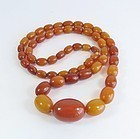 Antique, natural, Baltic butterscotch Amber bead necklace