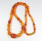 Antique, genuine Baltic butterscotch Amber bead necklace