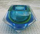 Murano Mandruzzato Sommerso art glass paperweight vase